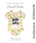baby shower invite design | Shutterstock .eps vector #359006198
