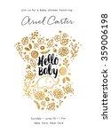 Baby Shower Invite Design | Shutterstock vector #359006198