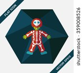 skeleton flat icon with long...   Shutterstock .eps vector #359008526