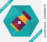 medical bottle flat icon with... | Shutterstock .eps vector #359008970