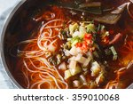 a bowl of rice noodles in... | Shutterstock . vector #359010068