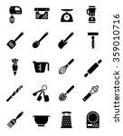 bakery utensils equipment icon | Shutterstock .eps vector #359010716