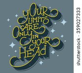 hand drawn vector motivational... | Shutterstock .eps vector #359027333