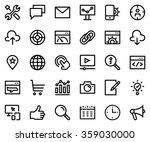 search engine optimization line ... | Shutterstock .eps vector #359030000