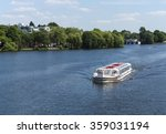 Boat With Tourists On Alster...