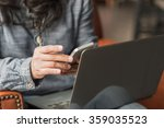 digital lifestyle blog writer... | Shutterstock . vector #359035523