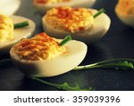 Deviled Eggs With Red Pepper