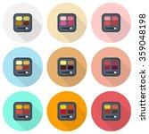 rectangular eyeshadow palettes... | Shutterstock .eps vector #359048198