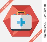 first aid kit flat icon with... | Shutterstock .eps vector #359052548