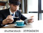 people relax in cafe   Shutterstock . vector #359060654