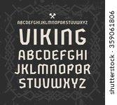 sanserif font in historical... | Shutterstock .eps vector #359061806