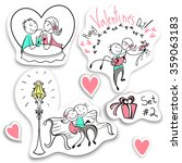 set of couples in the sketch... | Shutterstock .eps vector #359063183