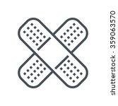 bandage  plaster icon suitable... | Shutterstock .eps vector #359063570