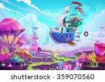 illustration  flying to a... | Shutterstock . vector #359070560