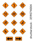 warning  signs  traffic signs... | Shutterstock .eps vector #359074004