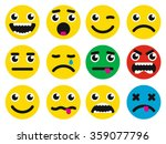 round smiley faces with... | Shutterstock .eps vector #359077796