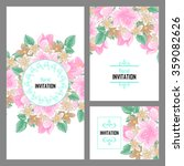 invitation with floral... | Shutterstock . vector #359082626