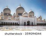 beautiful  sheikh zayed grand... | Shutterstock . vector #359094044