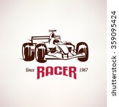 formula racing car emblem  race ... | Shutterstock .eps vector #359095424