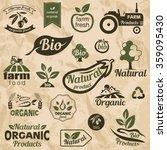 bio  organic  natural food... | Shutterstock .eps vector #359095430