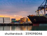 Cargo Ship Loading Containers...