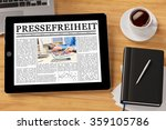 tablet computer with the german ... | Shutterstock . vector #359105786
