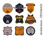 fresh bread  coffee shop ... | Shutterstock .eps vector #359106410