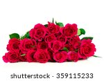 roses isolated on white... | Shutterstock . vector #359115233