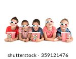 group of children with 3d... | Shutterstock . vector #359121476