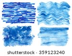 watercolor hand painting... | Shutterstock .eps vector #359123240