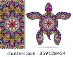 decorative turtle with ornament ... | Shutterstock .eps vector #359128424