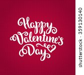 happy valentine's day card.... | Shutterstock .eps vector #359130140