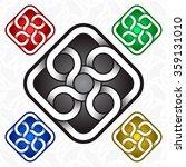 rhombus logo template in celtic ... | Shutterstock .eps vector #359131010