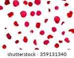 close up of red rose petals | Shutterstock . vector #359131340