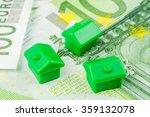 three miniature plastic houses... | Shutterstock . vector #359132078
