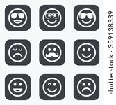 smile icons. happy  sad and... | Shutterstock .eps vector #359138339
