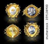 collection of attractive golden ... | Shutterstock .eps vector #359138900