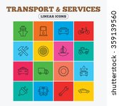 transport and services icons.... | Shutterstock .eps vector #359139560