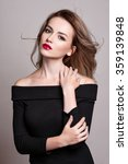 portrait of beautiful blonde... | Shutterstock . vector #359139848