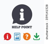 help point sign icon.... | Shutterstock .eps vector #359141528