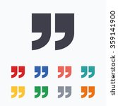 quote sign icon. quotation mark ... | Shutterstock .eps vector #359141900