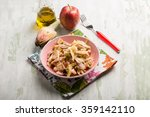 chicken salad with sliced apple ... | Shutterstock . vector #359142110