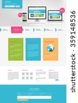 business one page website...   Shutterstock .eps vector #359148536