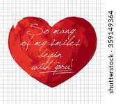valentines day hand painted... | Shutterstock .eps vector #359149364