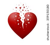 broken red heart | Shutterstock .eps vector #359150180