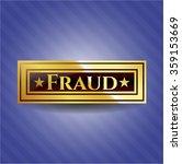 fraud gold emblem | Shutterstock .eps vector #359153669