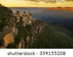 Sunrise In Blue Mountains. Vie...
