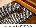 vintage letterpress | Shutterstock . vector #359156624