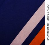 Small photo of closeup of a colorful stripes fabric