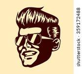 vintage retro cool dude man... | Shutterstock .eps vector #359172488